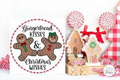 Gingerbread Kisses & Christmas Wishes SVG | Winter Design Product Image 3