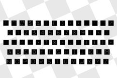 letters in squares