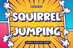 Squirre Jumping - Comic Display Font Product Image 1