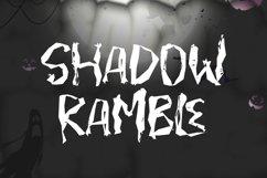 SHADOW RAMBLE - Halloween Font Product Image 1