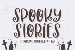 SPOOKY STORIES Cute Halloween Font Product Image 1