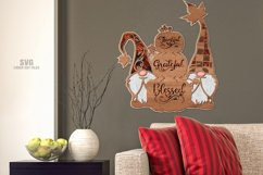 Thankful Grateful Blessed Pumpkin Gnome SVG Laser Cut Files Product Image 3
