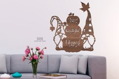 Thankful Grateful Blessed Pumpkin Gnome SVG Laser Cut Files Product Image 2