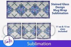 Stained Glass Mug Wrap Sublimation Product Image 1