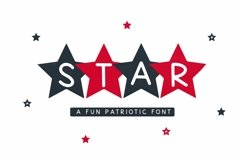 Web Font Star - A Fun Patriotic Font Product Image 1
