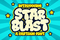 Star Blast a Playful Cartoon Font Product Image 1