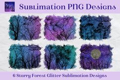 Sublimation PNG Designs - Starry Forest Glitter Product Image 1