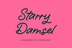 Web Font Starry Damsel - a signature script font Product Image 1