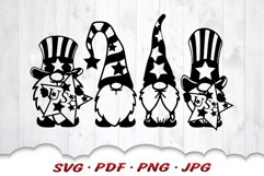 4th Of July Gnome SVG Cut Files Bundle Product Image 3