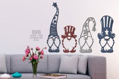 Stars & Stripes Garden Gnome SVG Laser Cut Files Bundle Product Image 2