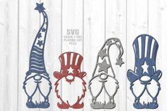 Stars & Stripes Garden Gnome SVG Laser Cut Files Bundle Product Image 1