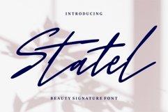 Web Font Statel - Beauty Signature Font Product Image 1