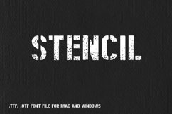 Stencil Latin font for Mac and Windows Product Image 1