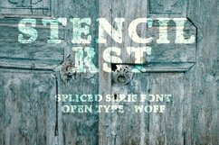 Stencil RST Font | Open Type-Wof Product Image 4