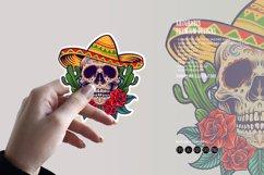 Cinco de Mayo Mexican Skull Logo Mascot Product Image 3