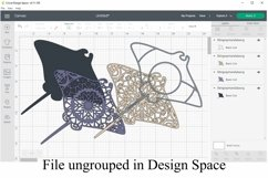 Stingray Mandala 4 Layered 3D Design SVG Product Image 2