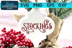 Stockings SVG Cut File | Christmas SVG Cut File Product Image 1