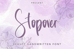 Web Font Stopover - Beauty Handwritten Font Product Image 1