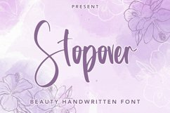 Stopover - Beauty Handwritten Font Product Image 1