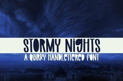 Web Font Stormy Nights - A Quirky Handlettered Font Product Image 1