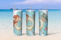 Beach girls tumbler sublimation design 20 oz skinny Product Image 3