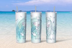 Sea beach with cute girls tumbler sublimation design Png. Product Image 4