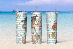 Beach girls tumbler sublimation design 20 oz skinny Product Image 4
