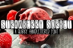 Web Font Strawberry Sorbet - A Quirky Handlettered Font Product Image 1