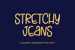 Web Font Stretchy Jeans - a skinny tall quirky handwritten f Product Image 1