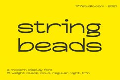 String Beads Font Product Image 1