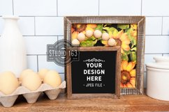 5x5 Farmhouse Black Sign Mockup, Square Sign Mockup, Fall Product Image 1