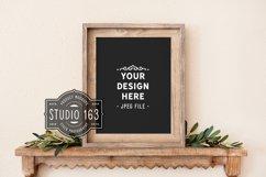 Black Sign Mockup, 11x14 Wood Frame Mockup, JPEG Product Image 1
