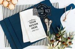 Tea Towel Mockup, Flour Sack, White Kitchen Towel, JPEG Product Image 1