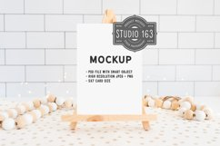 5x7 Blank Card Mockup, Easel Mockup, PSD JPG Product Image 1