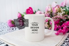 11 oz White Mug Mockup, Blank Mug, Coffee Cup Mockup, JPEG Product Image 1