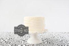 Cake Topper Mockup, White Cake Stock Photo Vintage Style Product Image 1