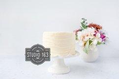 Cake Topper Mockup, White Cake Stock Photo, Elegant Product Image 1