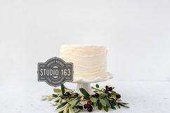Cake Topper Mockup, White Cake Stock Photo, JPEG Product Image 1