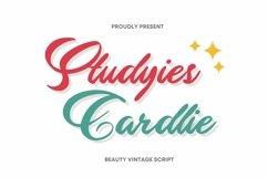 Web Font Studyies Cardlie Font Product Image 1