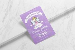 Purple Angel Baby Shower Invitation Product Image 2
