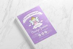 Purple Angel Baby Shower Invitation Product Image 3