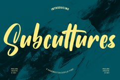 Subcultures Handwritten Display Font Product Image 1
