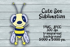 Cute Bee Sublimation PNG Design. Animal Clipart. Product Image 2
