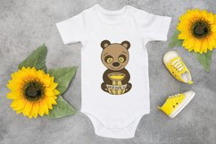Cute Bee Sublimation PNG Design. Animal Clipart. Product Image 3