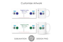 11 oz mug template, 15 oz mug template Product Image 3