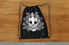 Sugar Skull & Flowers SVG Product Image 3