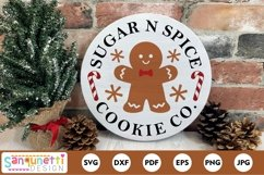 Sugar n Spice Cookie Christmas Round SVG Product Image 1