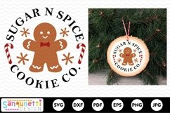 Sugar n Spice Cookie Christmas Round SVG Product Image 2
