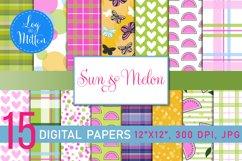 Melon Scrapbook Paper Pack - Summer Paper - Summer Patterns Product Image 1