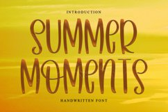 Summer Moments - A Handwritten Font Product Image 1
